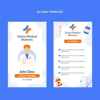 Плоский шаблон медицинского удостоверения личности