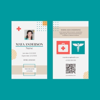 Carta d'identità medica piatta