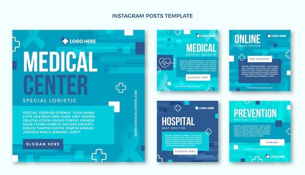 Flat medical instagram post