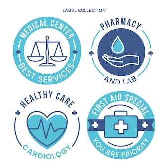 Flat medical labels collectin