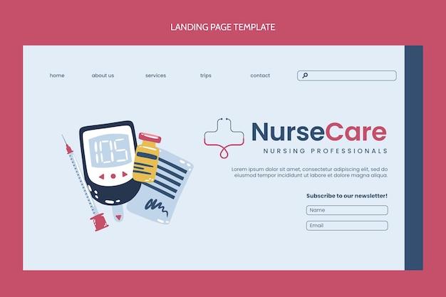 Flat medical landing page template