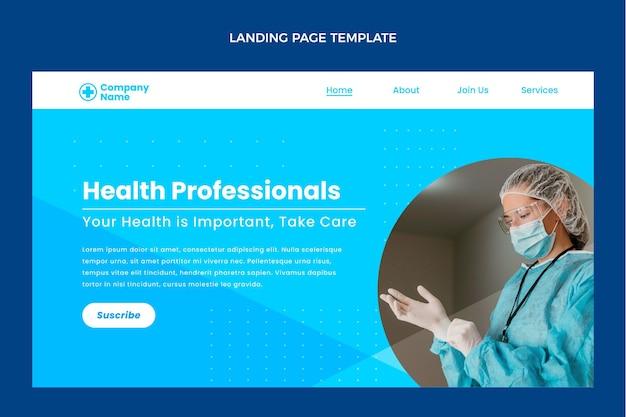 Modello di pagina di destinazione medica piatta