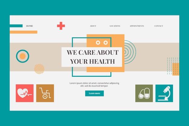 Pagina di destinazione medica piatta