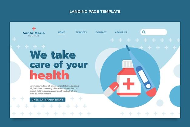 フラットな医療ランディングページ