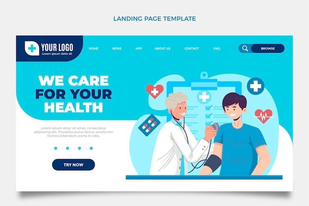 Flat medical landing page