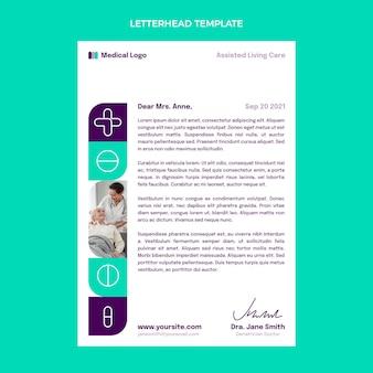 Modello di carta intestata medica piatta
