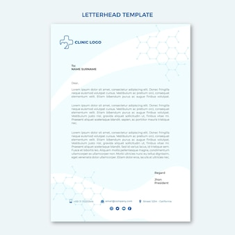 Carta intestata medica piatta