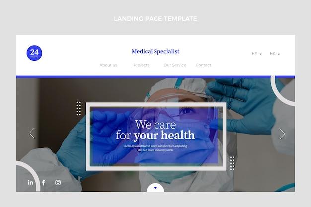 Modello web medico piatto