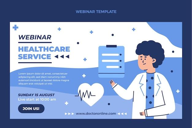 Flat medical webinar template