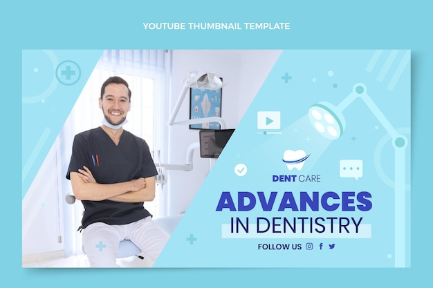 Flat medical youtube thumbnail