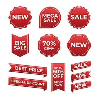 Плоская мега распродажа коллекция значков