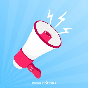 Flat megaphone background