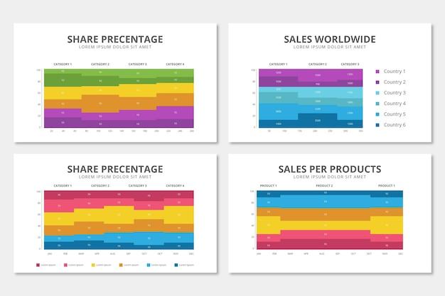 Flat mekko chart infographic