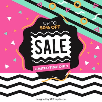 Flat memphis sale background