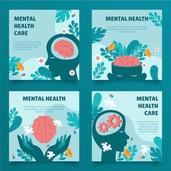 Post di instagram piatto sulla salute mentale