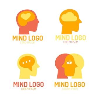Плоский набор логотипов психического здоровья