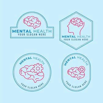 Set logo piatto salute mentale