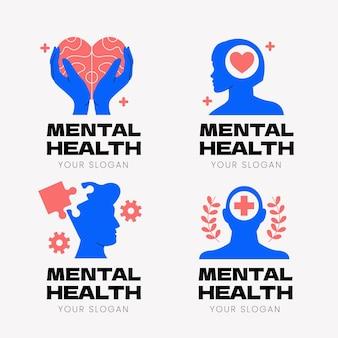Flat mental health logos