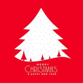 플랫 메리 크리스마스 레드 인사말 카드