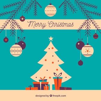 Flat merry christmas