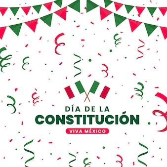 フラットメキシコ憲法記念日イベントのお祝い