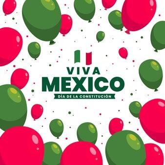 フラットメキシコ憲法記念日イベントのお祝いフラットメキシコ憲法記念日イベントのお祝い