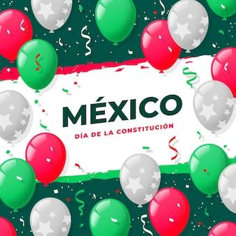 Evento piatto del giorno della costituzione messicana
