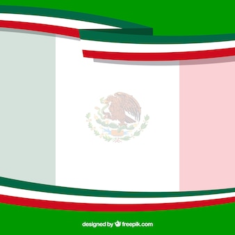 Flat mexican flag background