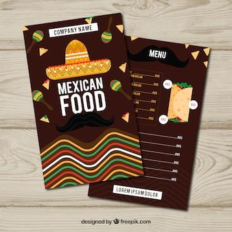 Меню плоского мексиканского питания