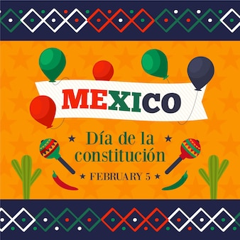 Flat mexico constitution day