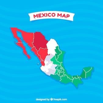 Фон с плоской картой mexico