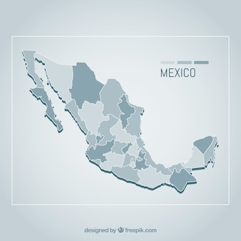 flat mexico map background