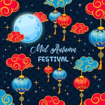 Плоский фестиваль середины осени