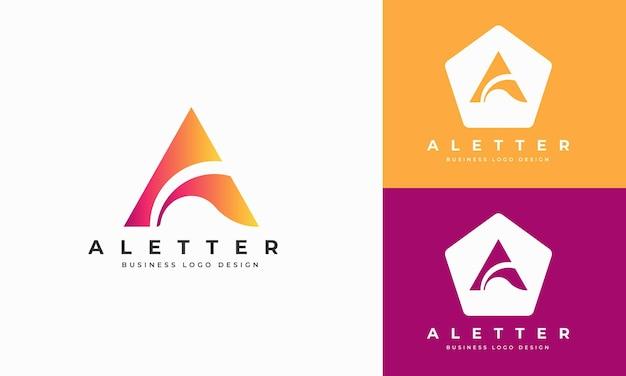Плоский минимальный дизайн логотипа премиум письмо