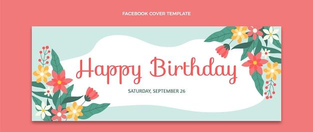 평면 최소한의 생일 페이스 북 커버