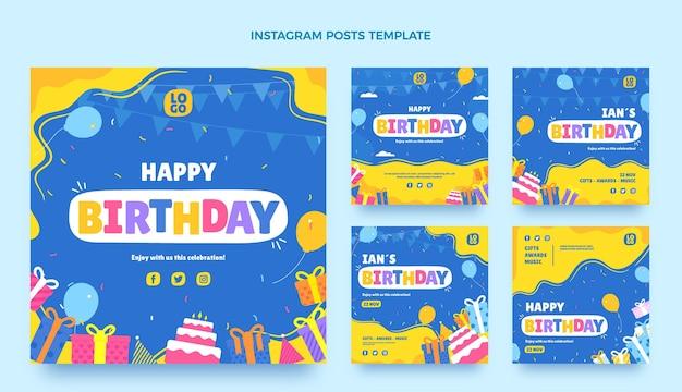 Плоский минимальный день рождения ig post