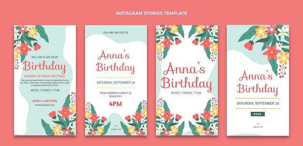Набор плоских минимальных историй дня рождения ig