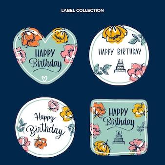 평면 최소한의 생일 레이블 컬렉션