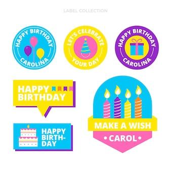 Flat minimal birthday labels