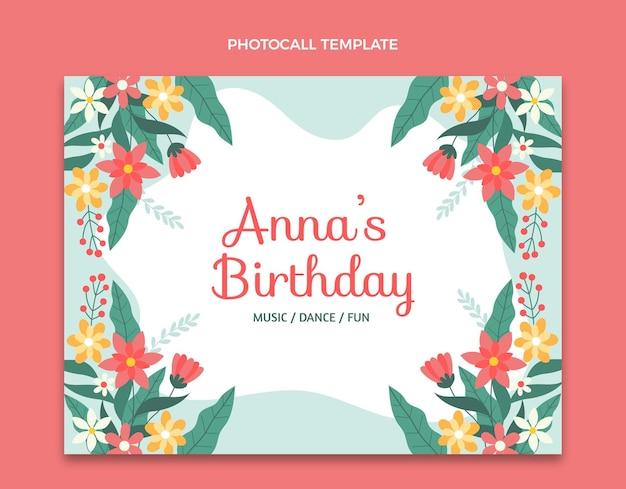 Flat minimal birthday photocall