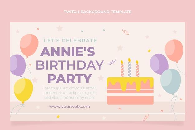 Flat minimal birthday twitch background