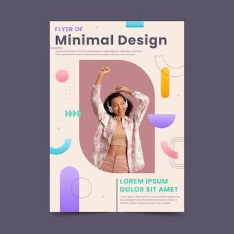 Flat minimal design a5 flyer template