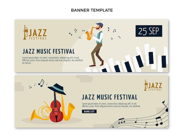 Flat minimal music festival banners