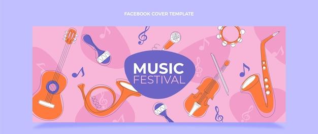 Flat minimal music festival facebook cover
