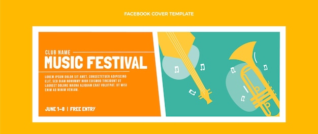 Copertina facebook flat minimal music festival