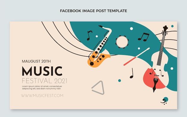 평평한 최소한의 음악 축제 페이스북 포스트