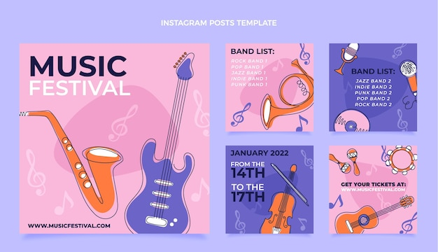 Flat minimal music festival instagram post