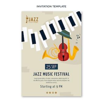 Плоское минимальное приглашение на музыкальный фестиваль