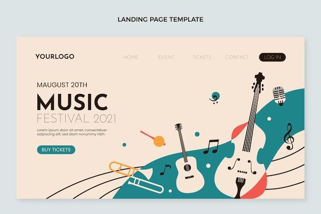 フラットミニマルミュージックフェスティバルのランディングページ