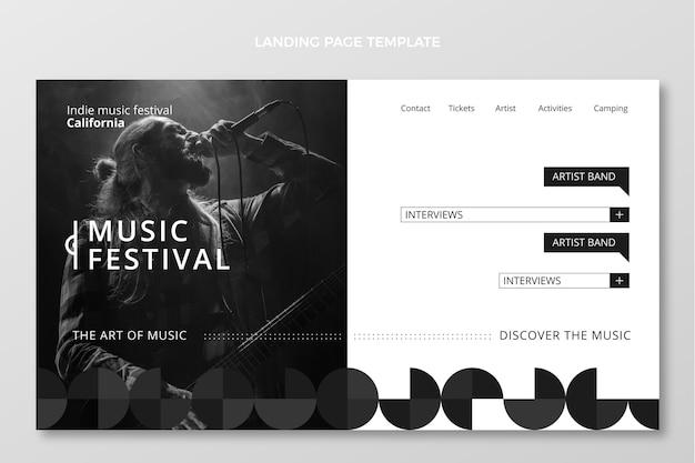 Flat minimal music festival landing page